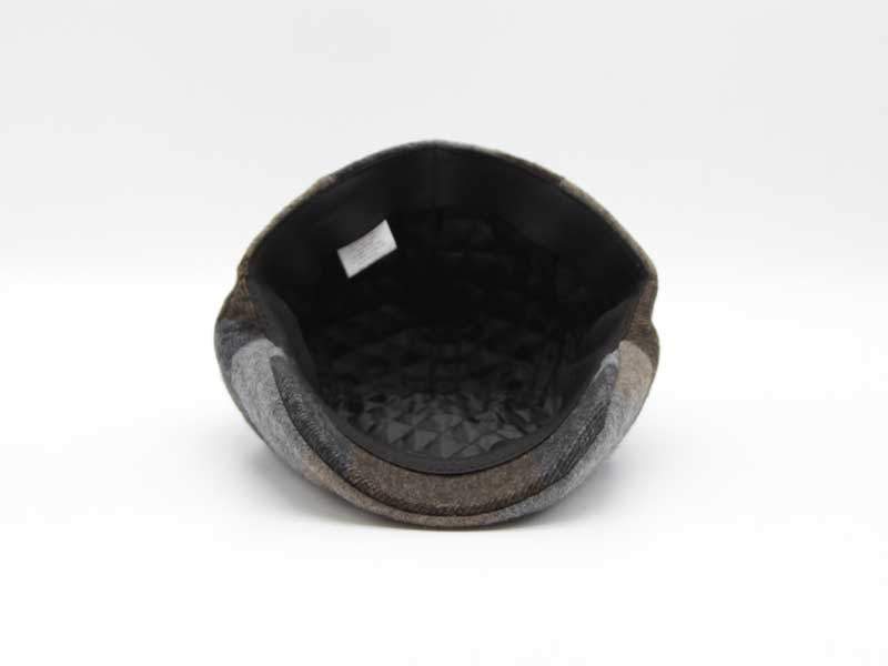 Cappello in lana classica quadrettata color fantasia grigio taglia 56 uomo