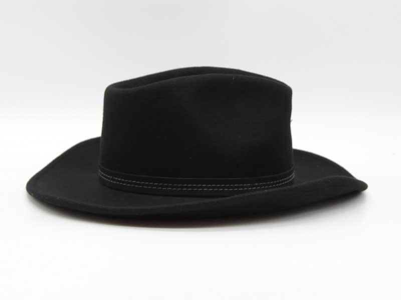 Cappello in lana stile Country nero taglia 59 unisex