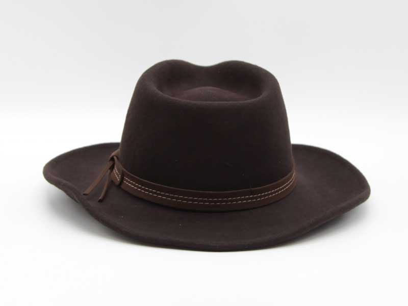 Cappello in lana stile Country marrone taglia 57 unisex