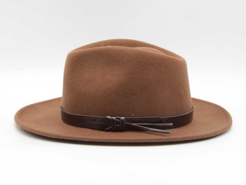 Cappello stile Western cacao taglia 57 unisex