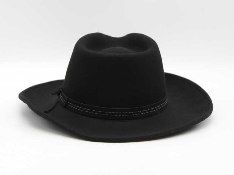Cappello in lana stile Country nero taglia 57 unisex