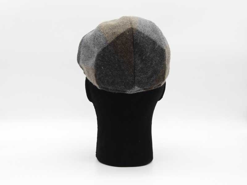 Cappello in lana classica quadrettata color fantasia fango taglia 59 uomo