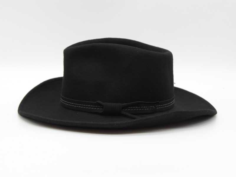Cappello in lana stile Country nero taglia 55 unisex