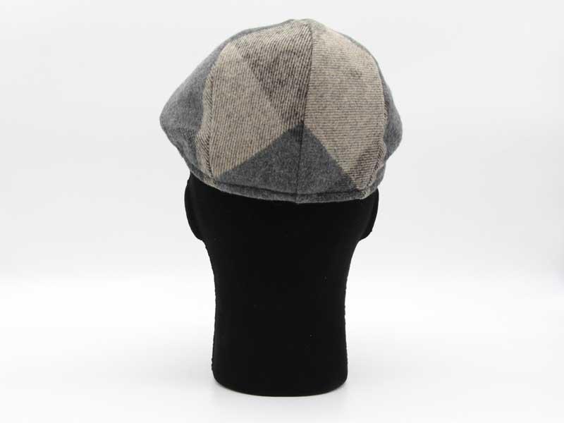Cappello in lana classica quadrettata color fantasia grigio taglia 58 uomo