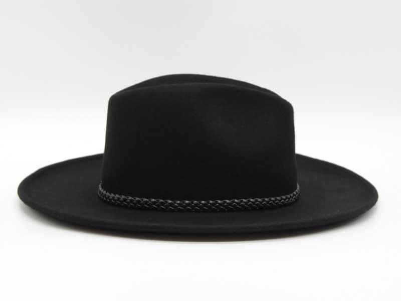 Cappello in feltro stile Western nero taglia 61 unisex