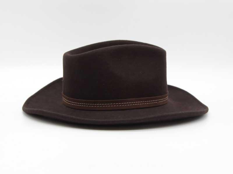 Cappello in lana stile Country marrone taglia 61 unisex