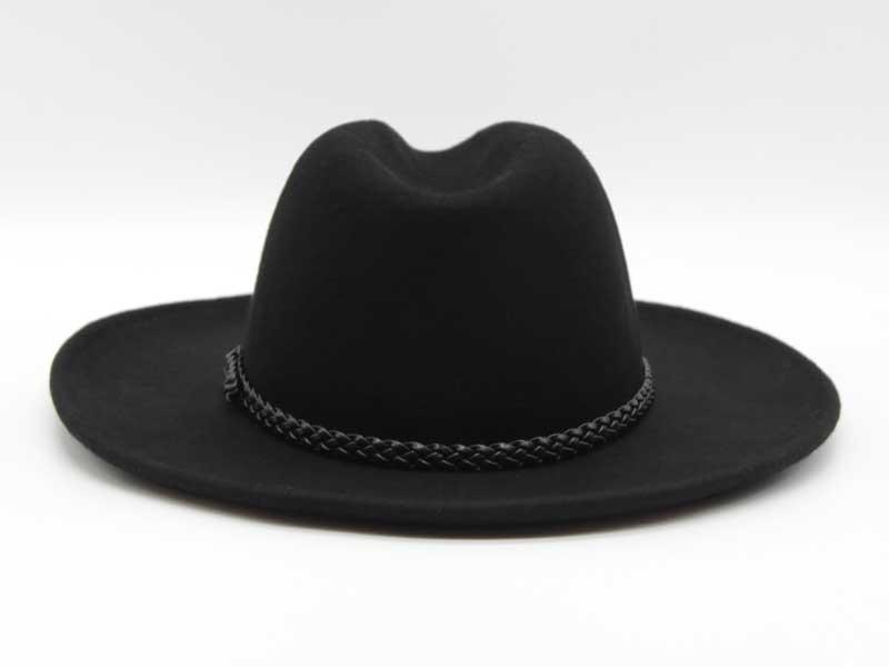 Cappello in feltro stile Western nero taglia 57 unisex
