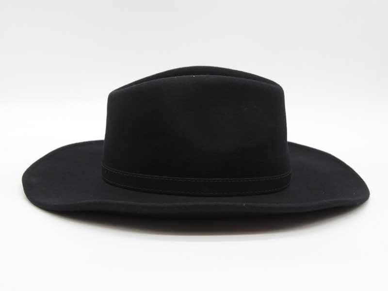 Cappello stile Western nero taglia 61 unisex