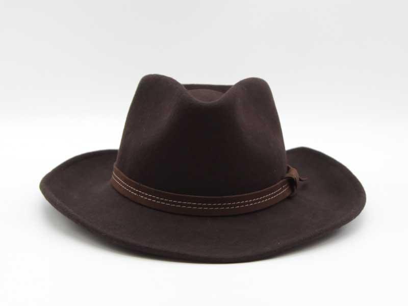 Cappello in lana stile Country marrone taglia 59 unisex