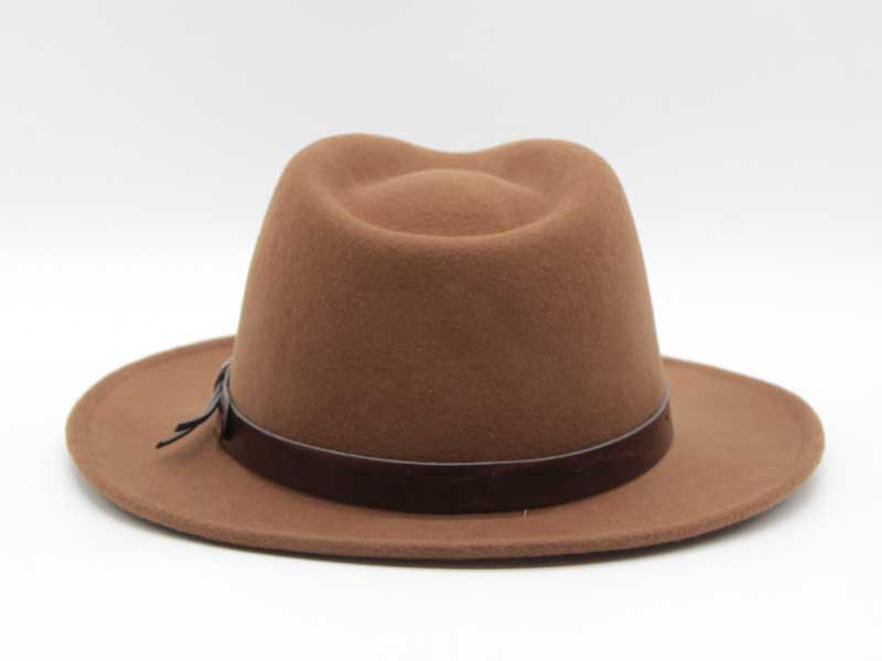 Cappello stile Western cacao taglia 61 unisex