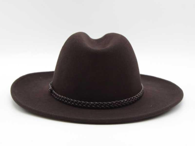 Cappello in feltro stile Western marrone taglia 55 unisex