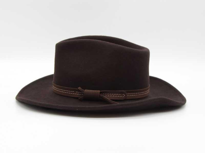Cappello in lana stile Country marrone taglia 55 unisex