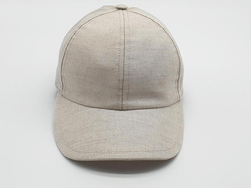Cappello stile baseball 100% lino e 100% made in Italy