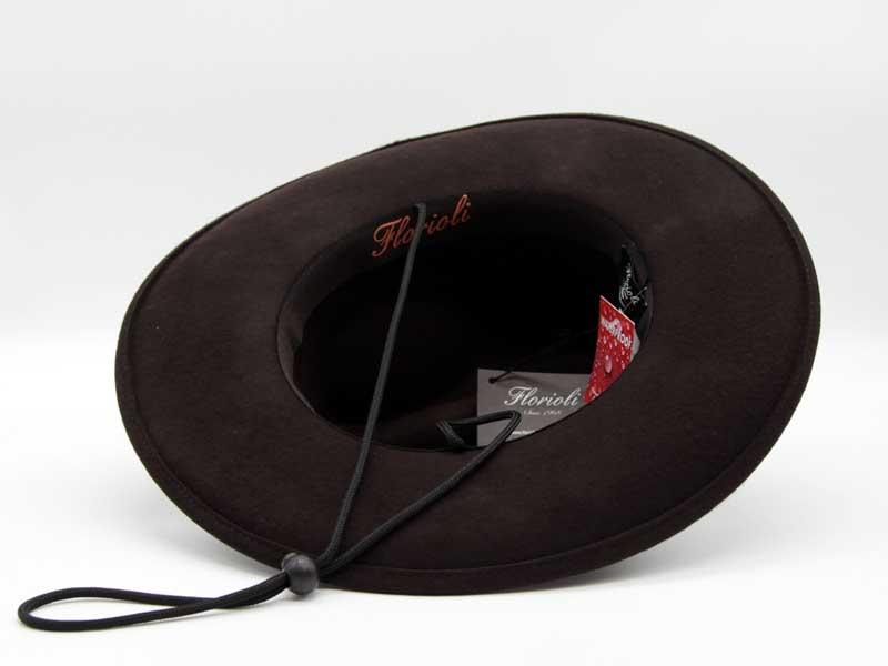 Cappello in feltro stile Western moro taglia 55 unisex