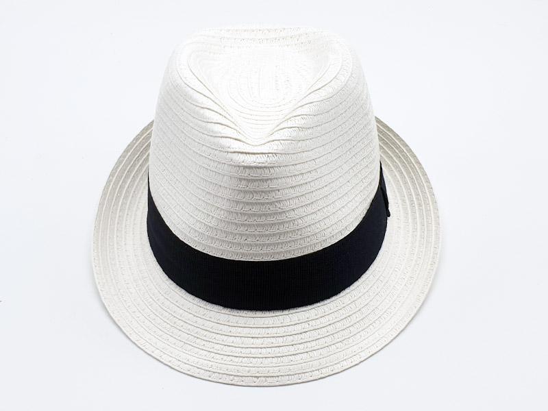 Cappello da bambino stile Johnatan - paglia - bianco