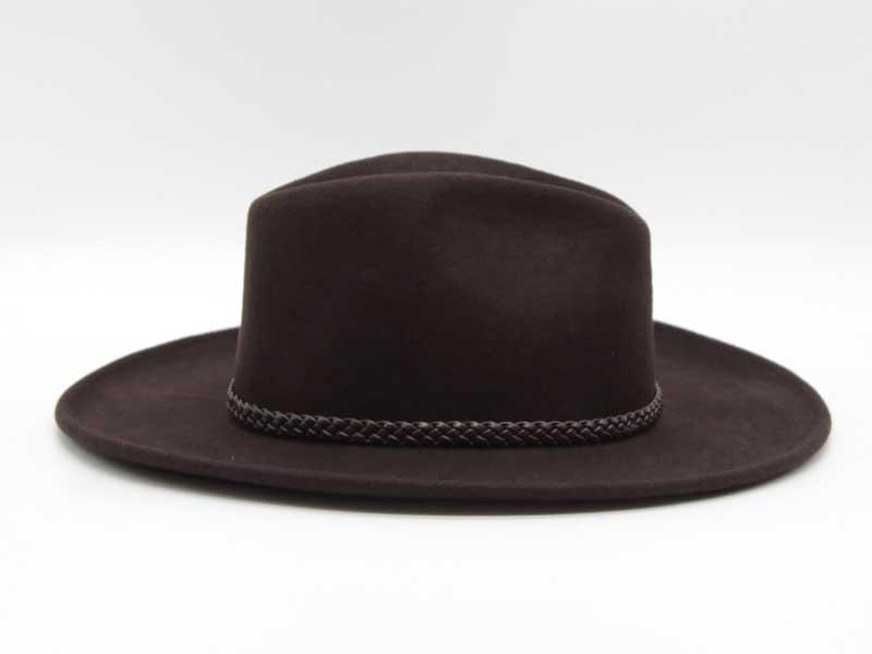 Cappello in feltro stile Western marrone taglia 61 unisex