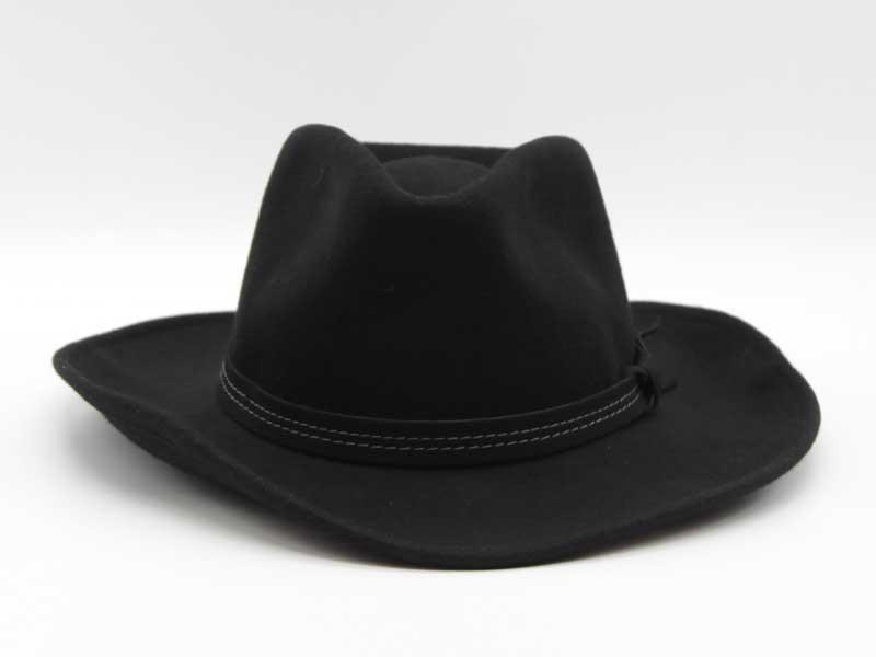 Cappello in lana stile Country nero taglia 61 unisex