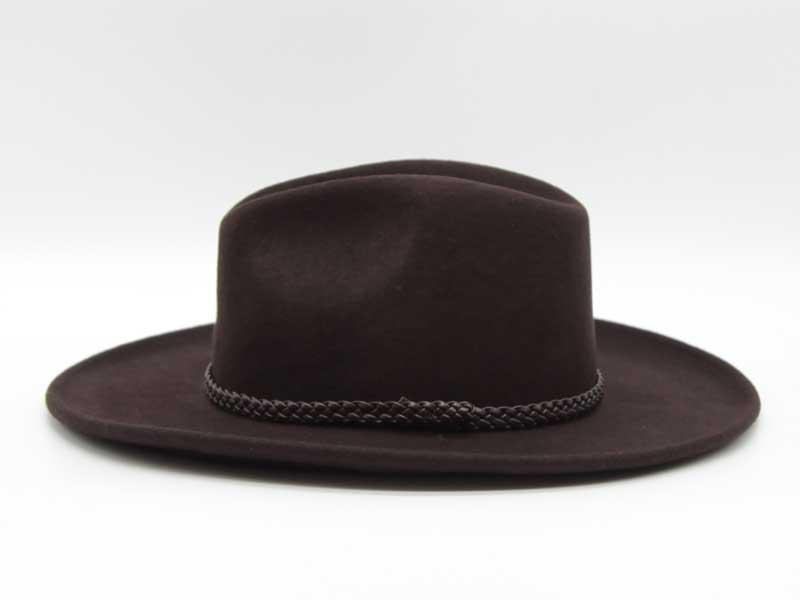 Cappello in feltro stile Western marrone taglia 57 unisex