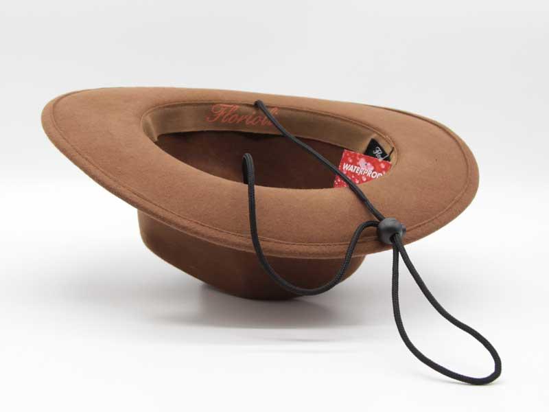 Cappello stile Western cacao taglia 55 unisex
