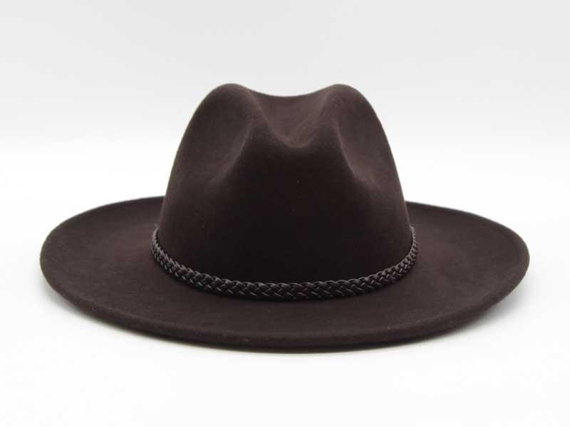 Cappello in feltro stile Western marrone taglia 59 unisex