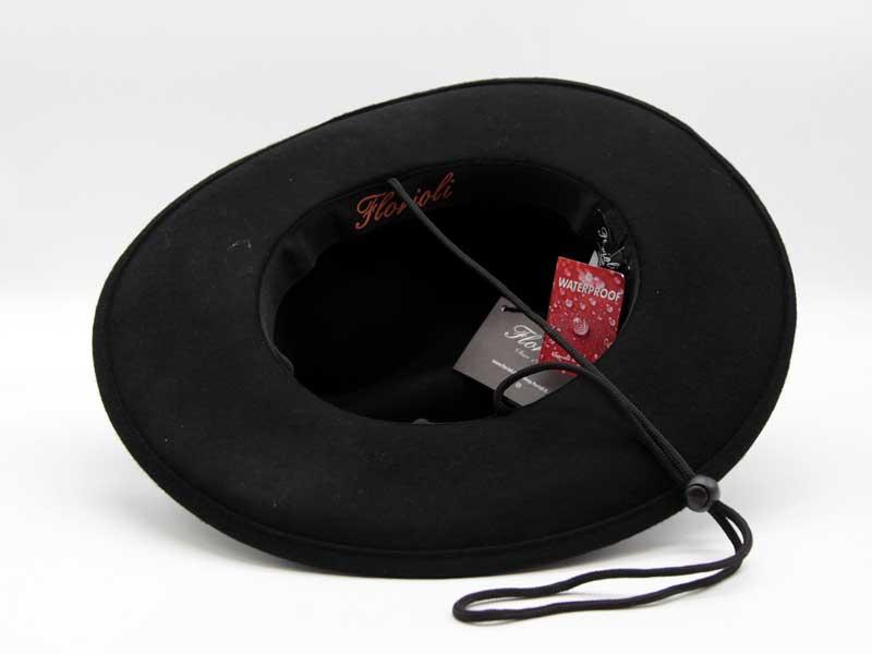 Cappello in feltro  stile Western nero taglia 59 unisex