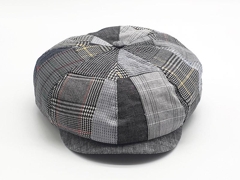 Coppola a spicchi stile peaky blinders patchwork scozzese base grigi