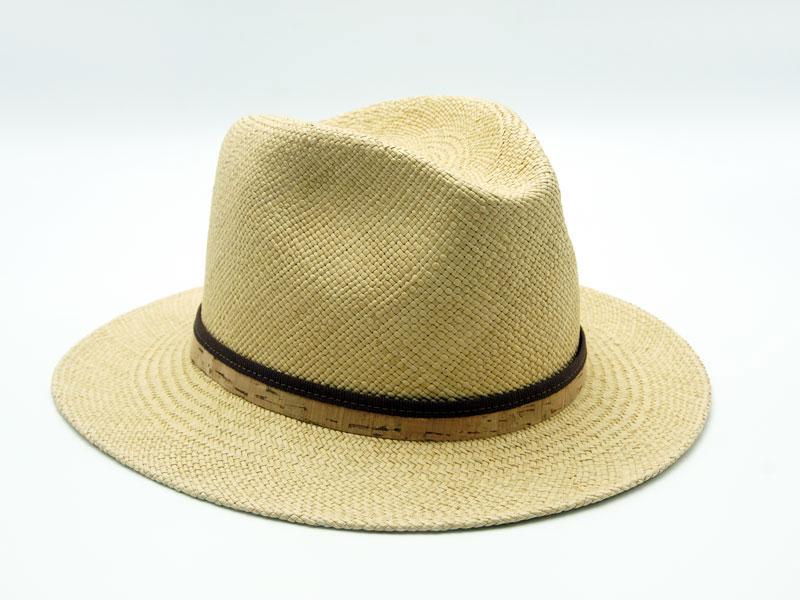 Cappello Panama unisex con cinturino bicolore