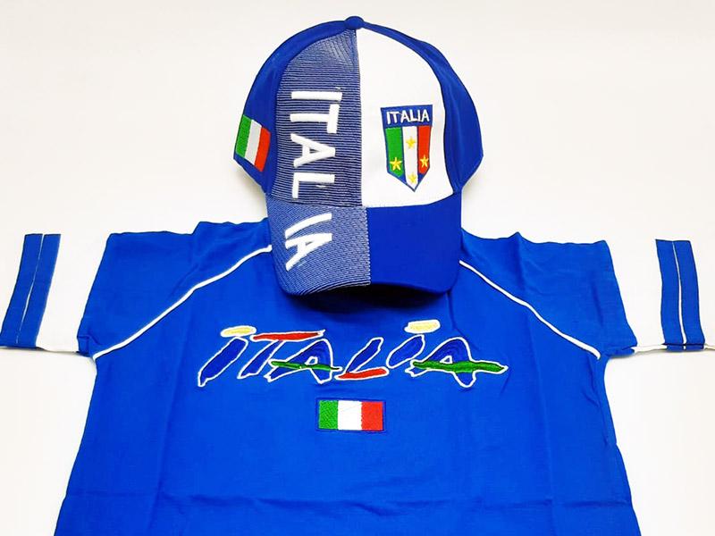 Speciale Italia Euro 2020 - Kit T-Shirt+Cappellino Bianco