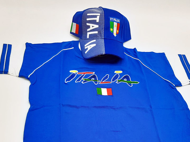 Speciale Italia Euro 2020 - Kit T-Shirt+Cappellino Blu