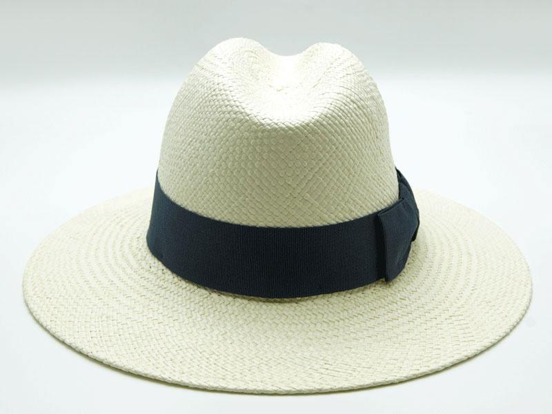 Cappello Panama bianco unisex con nastro colorato
