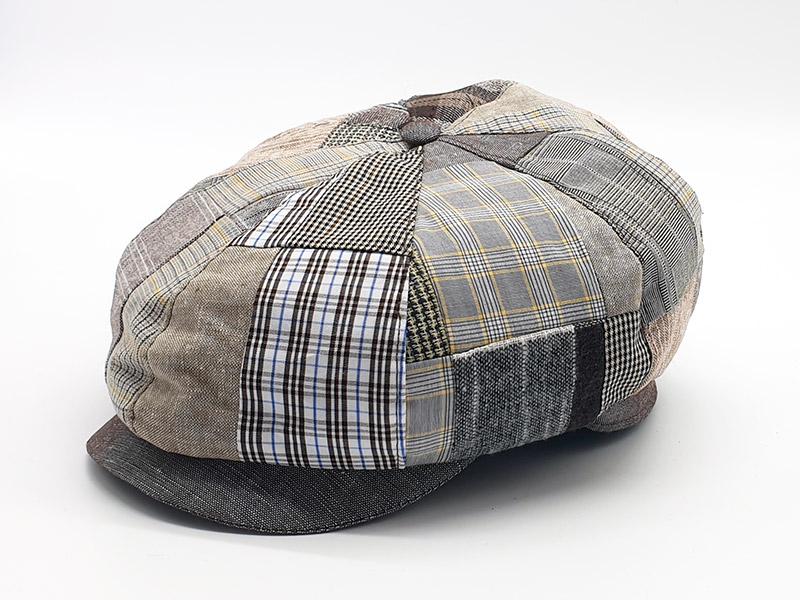 Coppola stile peaky blinders patchwork scozzese base marrone