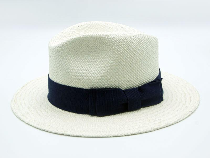 Cappello Panama bianco unisex con nastro di vari colori